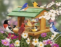 Backyard Birds Spring Feast Fine-Art Print