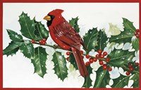 Cardinals & Holly Fine-Art Print