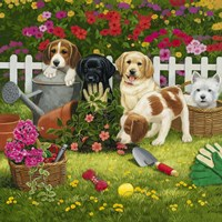 Garden Puppies Fine-Art Print