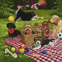 Puppy Picnic Fine-Art Print