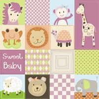 Baby Girl Animal Quilt Fine-Art Print