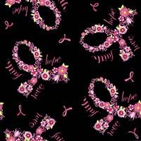 Pink Ribbon on Black Scatter Fine-Art Print