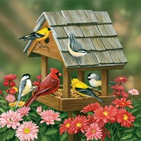 Backyard Birds Fall Feast Fine-Art Print