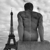 Eiffel and Man Fine-Art Print