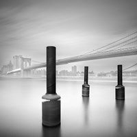 3 postes en Brooklin bridge Fine-Art Print
