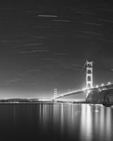 Golden Gate and Stars BW Fine-Art Print