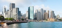 Apartment buildings and skyscrapers at Circular Quay, Sydney, New South Wales, Australia 2012 Fine-Art Print