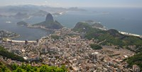 Elevated view of Botafogo neighborhood and Sugarloaf Mountain from Corcovado, Rio De Janeiro, Brazil Fine-Art Print