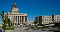 Facade of a Government Building, Utah State Capitol Building, Salt Lake City, Utah Fine-Art Print