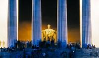 Tourists at Lincoln Memorial, Washington DC, USA Fine-Art Print