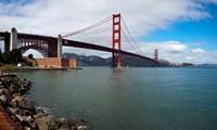 Golden Gate Bridge viewed from Marine Drive at Fort Point Historic Site, San Francisco Bay, San Francisco, California, USA Fine-Art Print