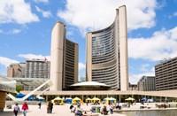 Toronto City Hall, Nathan Phillips Square, Toronto, Ontario, Canada Fine-Art Print