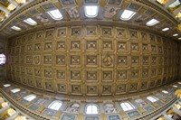 Ceiling details of a church, St. Peter's Basilica, St. Peter, Chains, Rome, Lazio, Italy Fine-Art Print