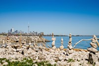 Rock stacks with skylines in the background, Toronto, Ontario, Canada 2013 Fine-Art Print