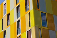 Low angle view of a youth hostel building, Jugendherberge Bremen, Bremen, Germany Fine-Art Print