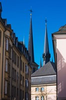 Church in the city, Notre Dame Cathedral, Luxembourg City, Luxembourg Fine-Art Print