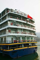 Yangtze River Cruise Ship, Yangtze River, Chongqing Province, China Fine-Art Print