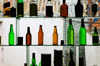 Bottles displayed at foreigner bar, Old Town, Dali, Yunnan Province, China Fine-Art Print