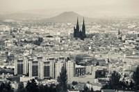 Cityscape with Cathedrale Notre-Dame-de-l'Assomption in the background, Clermont-Ferrand, Auvergne, Puy-de-Dome, France Fine-Art Print