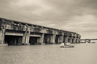 World War Two-era Nazi submarine base now an art gallery, Bordeaux, Gironde, Aquitaine, France Fine-Art Print