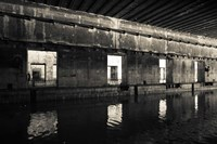 Interiors of World War Two-era Nazi submarine, Bordeaux, Gironde, Aquitaine, France Fine-Art Print