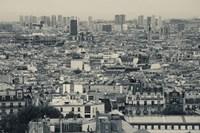 Aerial view of a city viewed from Basilique Du Sacre Coeur, Montmartre, Paris, Ile-de-France, France Fine-Art Print