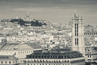 City with St. Jacques Tower and Basilique Sacre-Coeur viewed from Notre Dame Cathedral, Paris, Ile-de-France, France Fine-Art Print