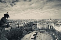 City viewed from the Notre Dame Cathedral, Paris, Ile-de-France, France Fine-Art Print