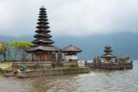 Pura Ulun Danu Bratan temple on the edge of Lake Bratan, Baturiti, Bali, Indonesia Fine-Art Print