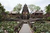 Facade of the Pura Taman Saraswati Temple, Ubud, Bali, Indonesia Fine-Art Print