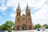 Facade of a cathedral, St. Peter's Cathedral, Adelaide, South Australia, Australia Fine-Art Print