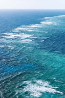 Waves Breaking on Great Barrier Reef, Queensland, Australia Fine-Art Print
