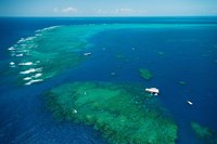 Aerial View of Great Barrier Reef, Queensland, Australia Fine-Art Print