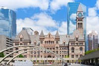 Facade of a government building, Toronto Old City Hall, Toronto, Ontario, Canada Fine-Art Print