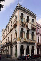 Buildings along the street, Havana, Cuba Fine-Art Print