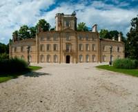 Facade of a castle, Chateau d'Avignon, Saintes-Maries-De-La-Mer, Bouches-Du-Rhone, Provence-Alpes-Cote d'Azur, France Fine-Art Print