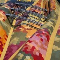High angle view of a roof of Santa Caterina Market, Barcelona, Catalonia, Spain Fine-Art Print