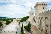 Palace in a city, Notre-Dame Des Domes, Le Palais des Papes, Palais Des Papes,  Provence-Alpes-Cote d'Azur, France Fine-Art Print