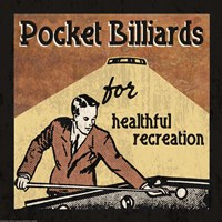 Pocket Billiards Fine-Art Print