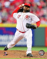 Johnny Cueto Pitching Baseball Fine-Art Print