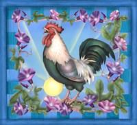 Morning Glory Rooster I Fine-Art Print