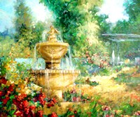 The Garden Fountain Fine-Art Print
