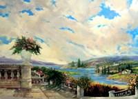The Villa Garden Fine-Art Print