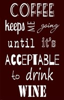 Acceptable to Drink Wine Fine-Art Print