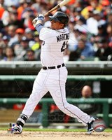 Victor Martinez 2014 batting Fine-Art Print