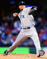 Felix Hernandez 2014 in Action Fine-Art Print