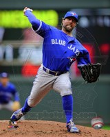 R.A. Dickey 2014 Action Fine-Art Print