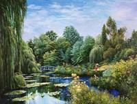 Monet Garden I Fine-Art Print