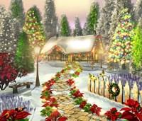 Winter's Cottage Fine-Art Print