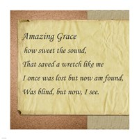 Amazing Grace Parchment Fine-Art Print